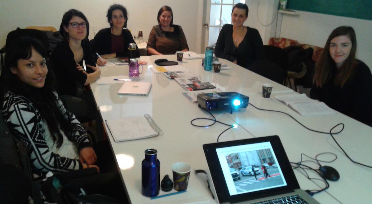 Formation avec Eva Quintas, Médiation culturelle, pratiques interdisciplinaires et espace public,15 janvier 2017, Montréal, photo: Eva Quintas