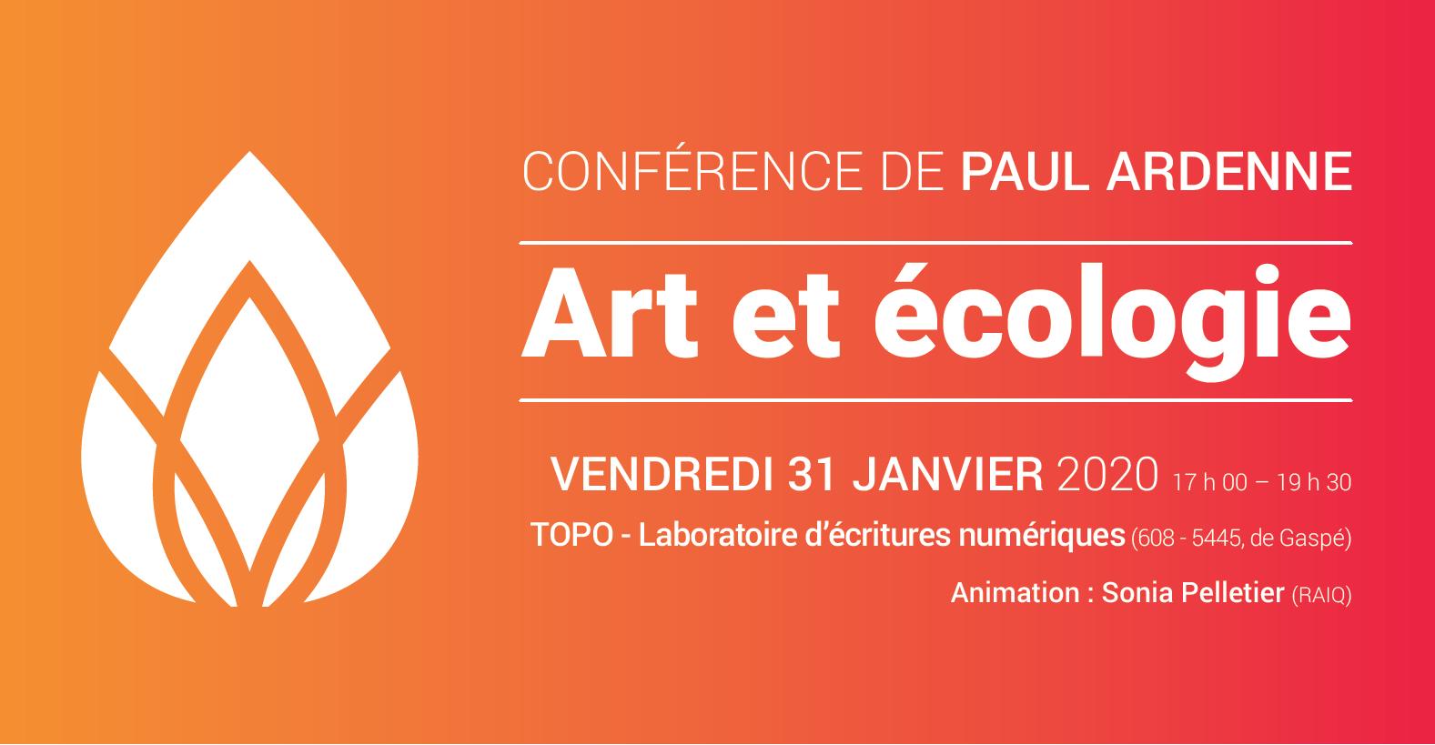 Conférence Art et écologie