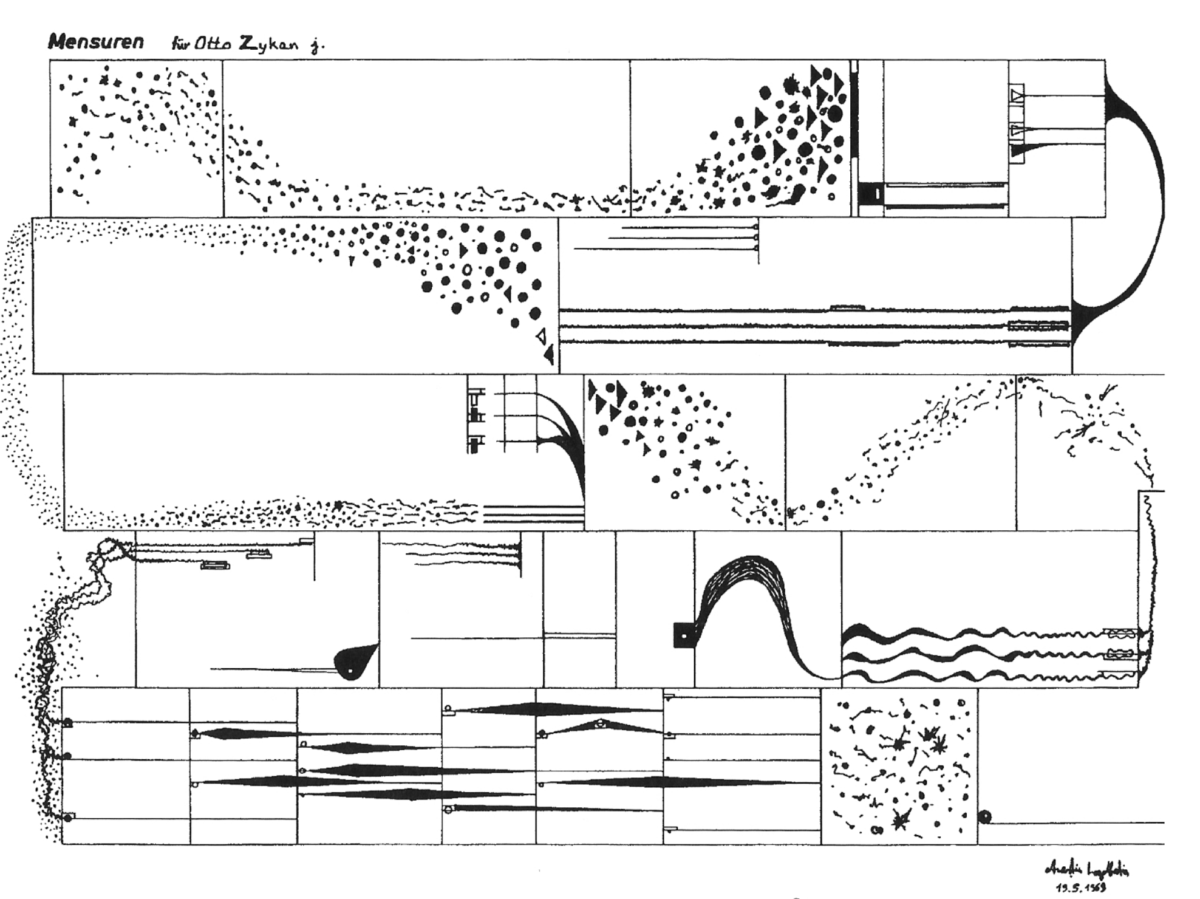 Image : Anestis Logothetis, Mensuren 1969