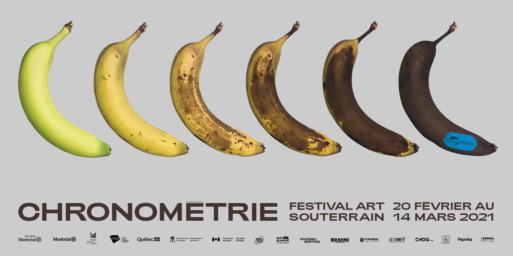 Évolution d'une banane qui murit